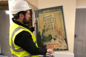 Old documents uncovered in Welshpool bank refurbishment