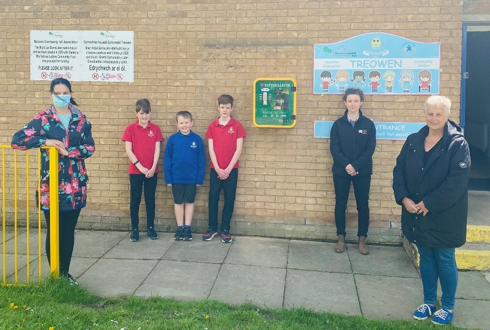 Life saving equipment installed at community hall in Newtown